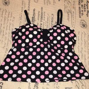 Xhilaration Women's Tankini Swimming Suit Top